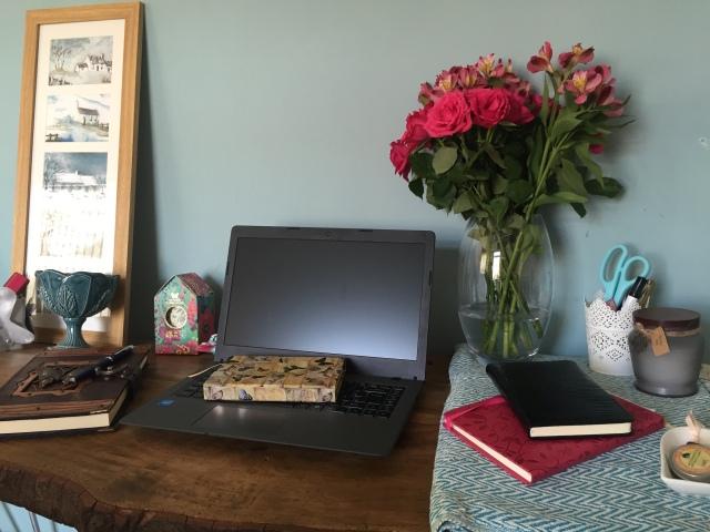 YA fantasy romance Author Lorraine Ambers Desk