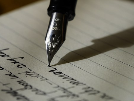 Pen paper writing