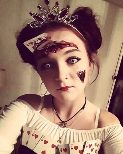 Queen of Hearts, sfxmakeup mua Halloween Fancy dress, Fright night