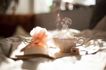Book Tea writing