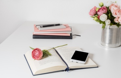 background-books-business-flowers-review
