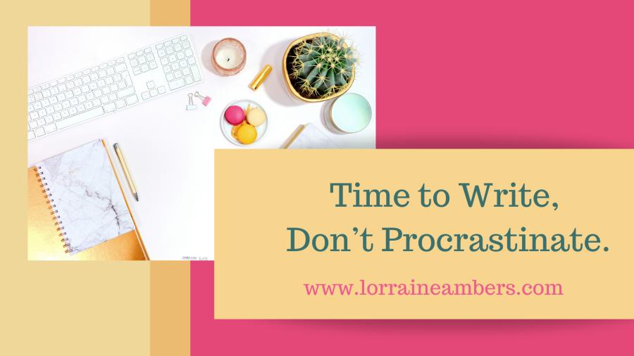 Desk, pens, cacti, notebook, blog banner